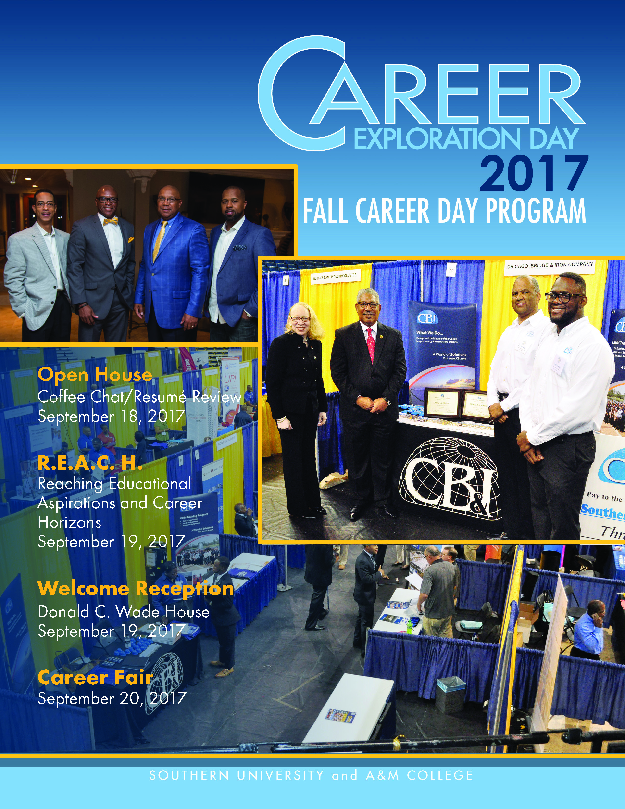 2017 Fall Career Day Program Cover