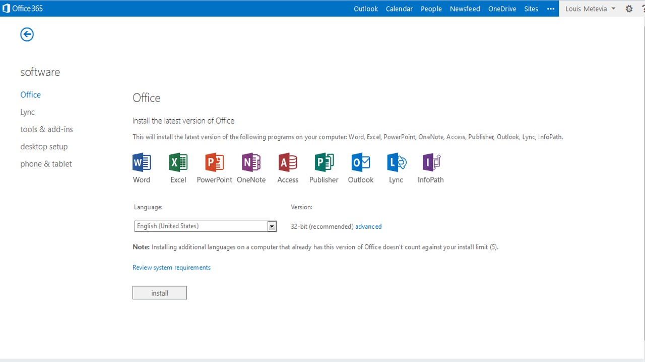 install ms office 365