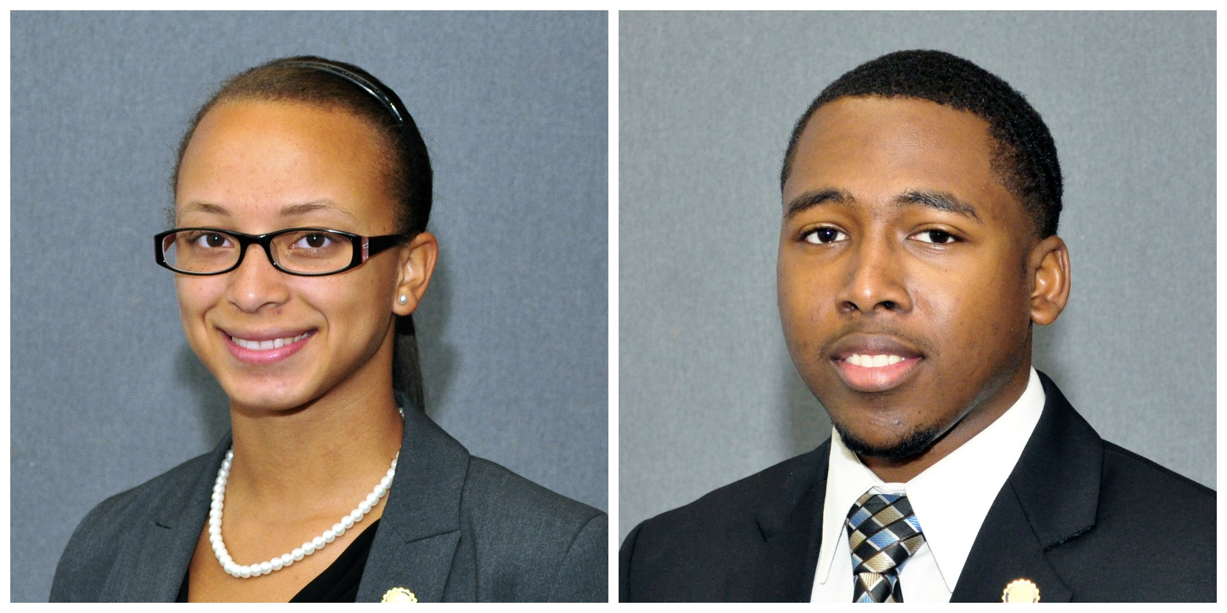 Dorlissia Robinson, on the left, and Taquincy Damon Alexander.