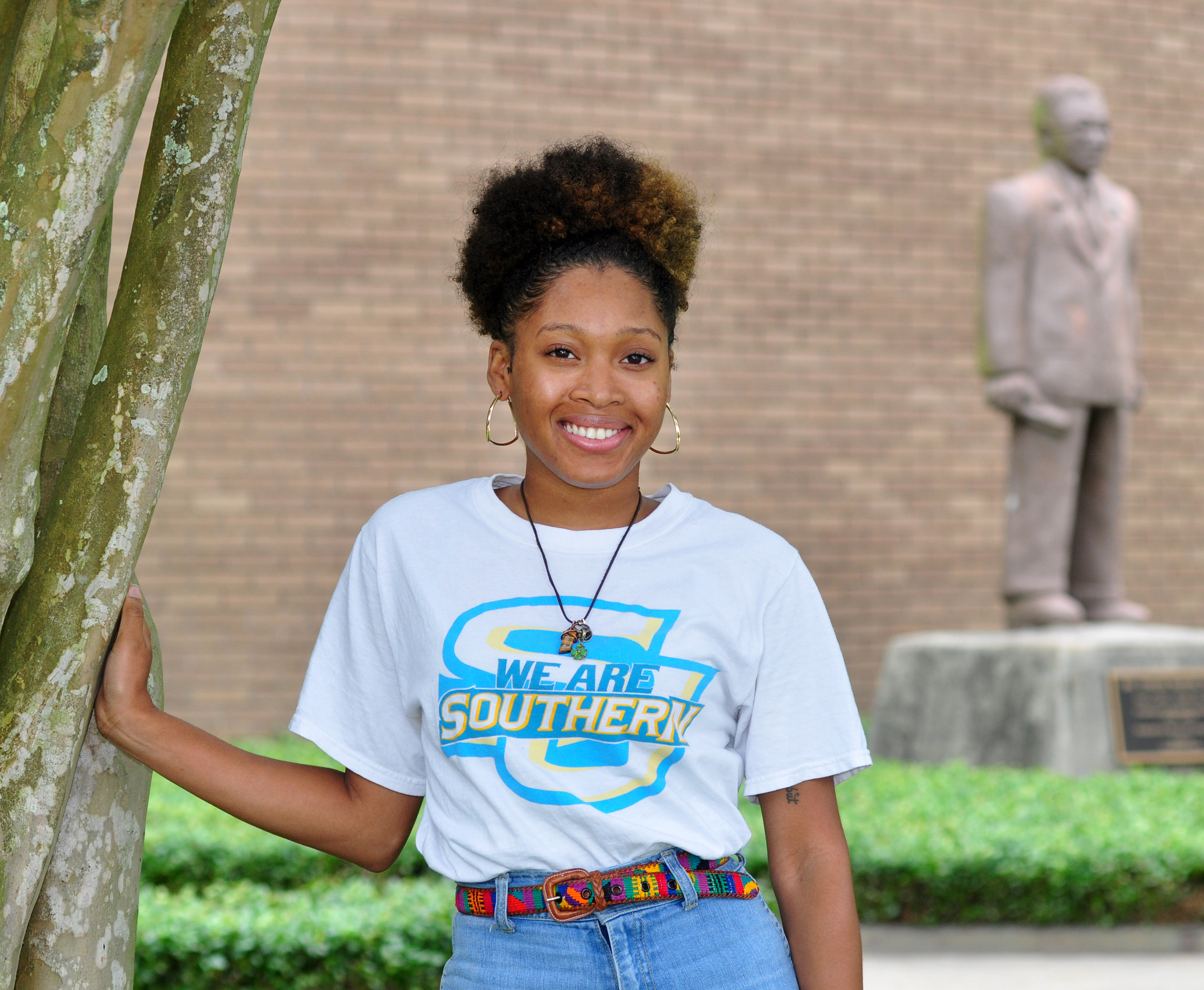 Naja Isabelle Webb, chief student marshal for Southern University Baton Rouge 2017 Spring Commencement