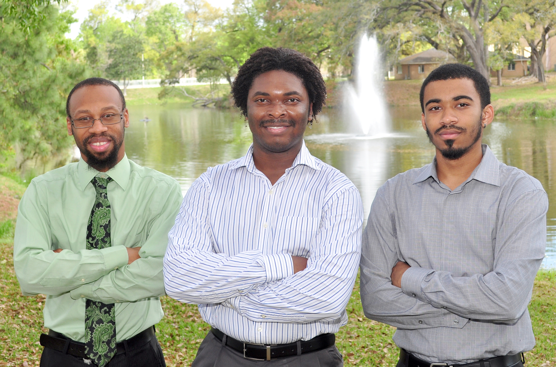 (left to right) Bennie Brown, Nicholas Lockett, and Ryan Alexander.