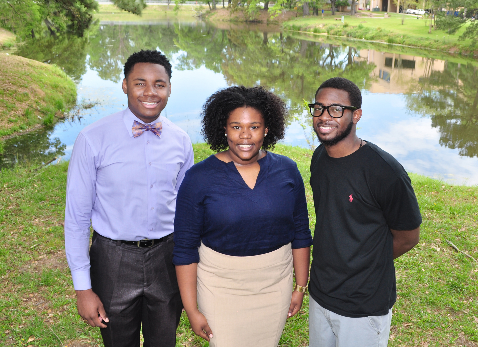 SUBR Timbuktu Academy and the Louis Stokes Louisiana Alliance for Minority Participation (LS-LAMP) Program scholars (pictured left –right) Oscar L. McClain, Jonalyn A. Fair, and André J. Spears, have been selected to participate in the Summer 2016 Minority Serving Institutions Partnership Program at Los Alamos National Laboratory in Los Alamos, New Mexico.