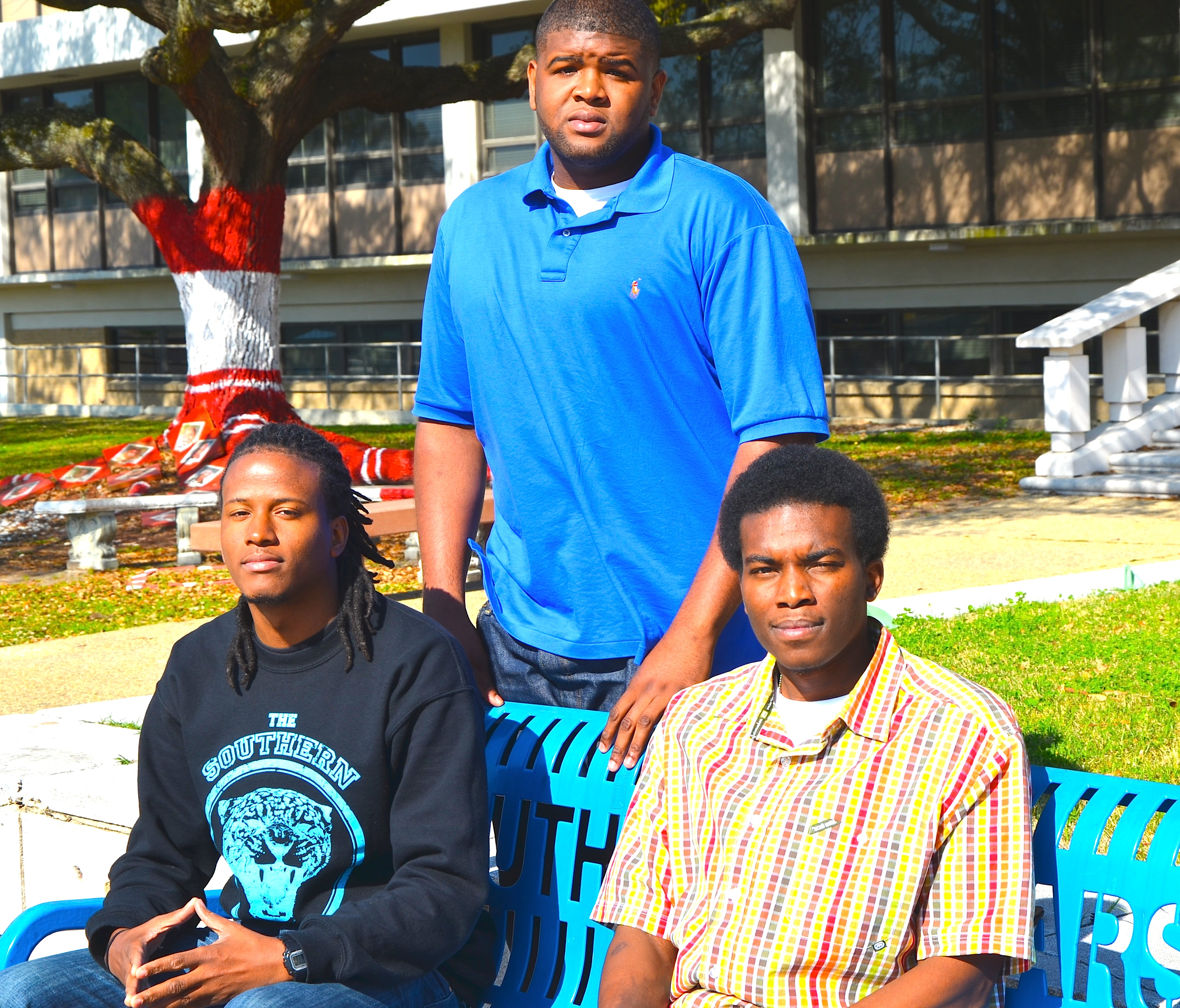 From left to right: Joseph Coleman, Tevin Wright and Brandon Jay