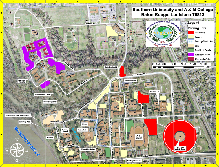 harding university campus map Campus Map Southern University And A M College harding university campus map