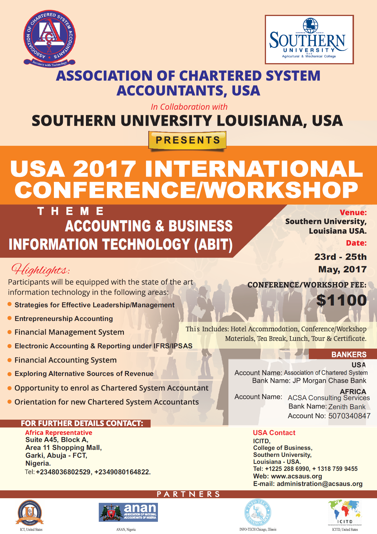 USA 2017 International Conference/Workshop