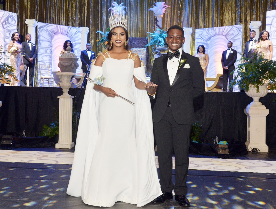 The 88th Miss Southern University, Darby A. Smith, accompanied by Anthony B. Kenney, SGA president.